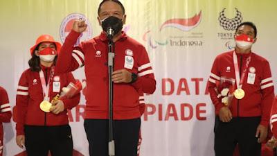 Menpora Sambut Kedatangan Kontingen Indonesia, Hasil Paralimpiade Tokyo 2020 Lampaui Target