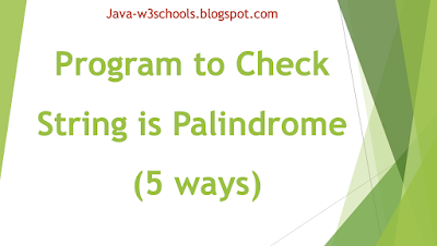 java-program-check-string-palindrome