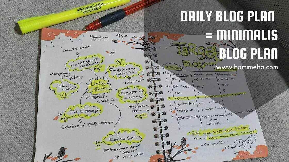 Daily blog plan