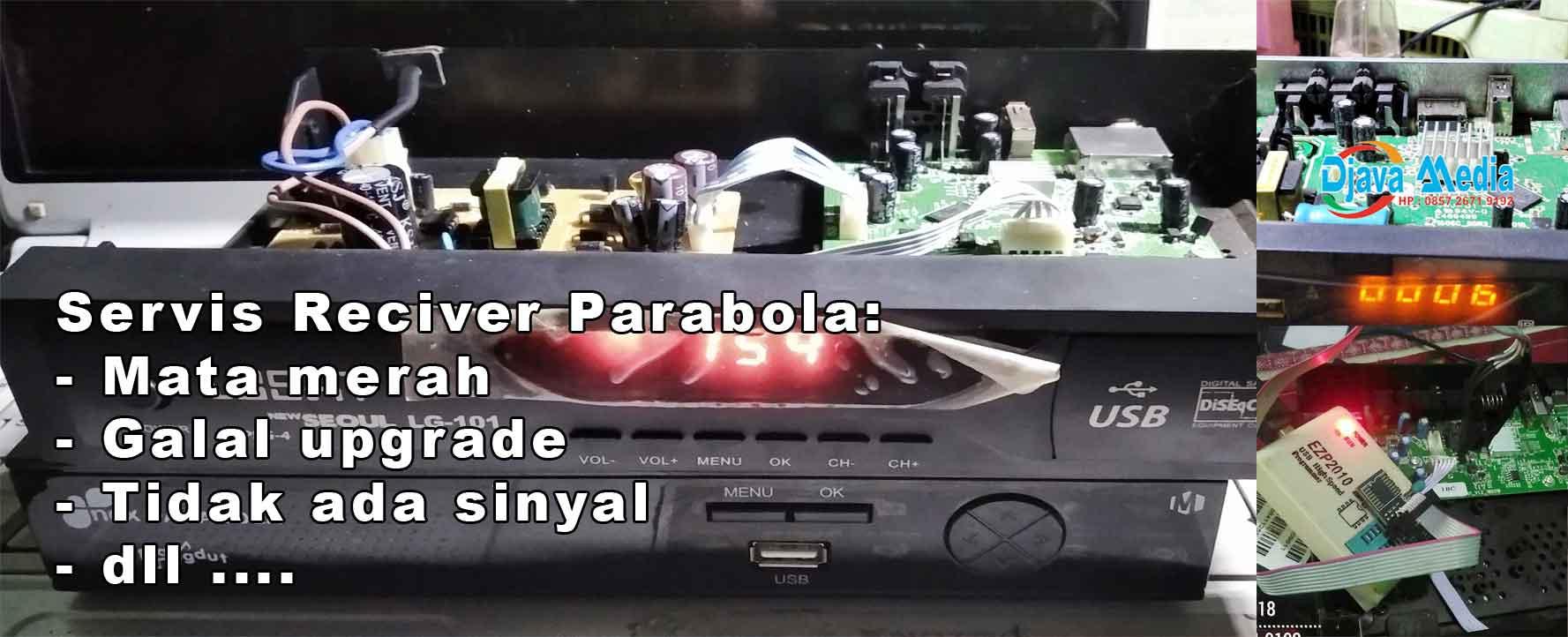 servis reciver parabola