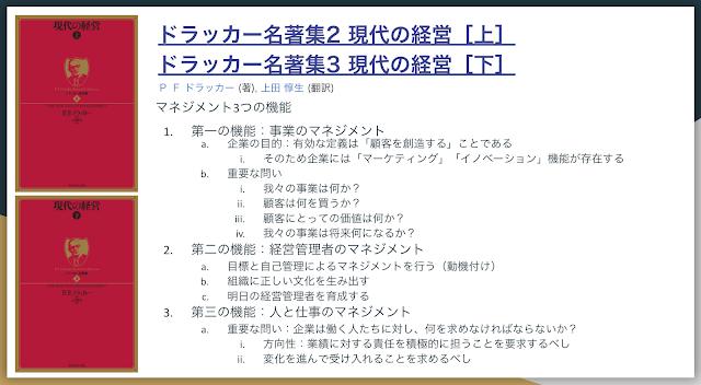 ビジネス名著まとめ6-1:ドラッカー名著集2,3 現代の経営[上・下]