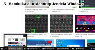 Membuka dan Menutup Jendela Windows merupakan fungsi lain tombol scroll pada mouse