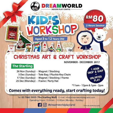 Jom Bawa Anak-Anak ke Kid's Workshop di DreamWorld Playland