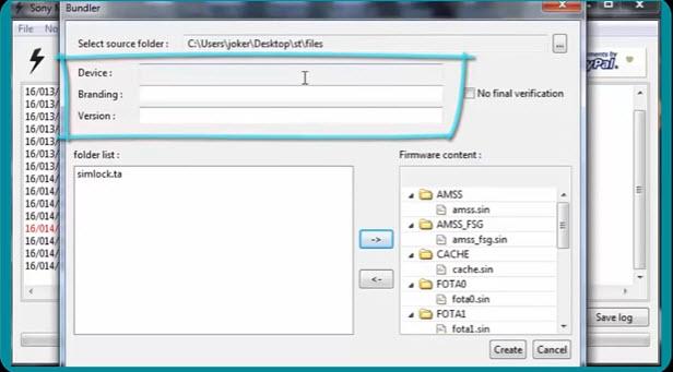 How To Convert Setool Sony Xperia Flash Files To FTF