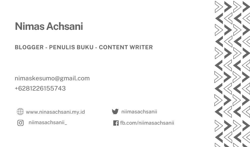 kartu nama blogger