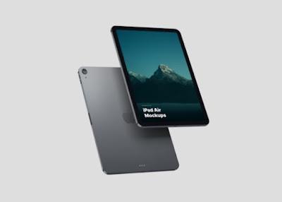 Floating iPad Air Mockup Set