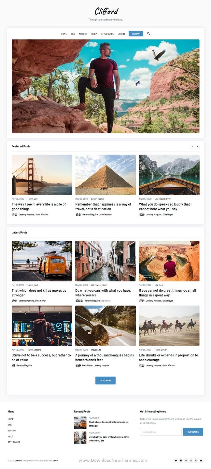 Blog and Magazine Theme