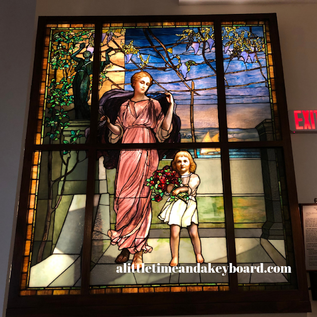 Woman with Daughter by Louis Comfort Tiffany at Halim Time and Glass Museum
