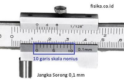 jangka sorong metrik ketelitian 0,1 mm