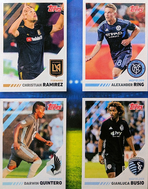 Football Cartophilic Info Exchange Post Cereals Usa Mls Player Trading Cards 2019
