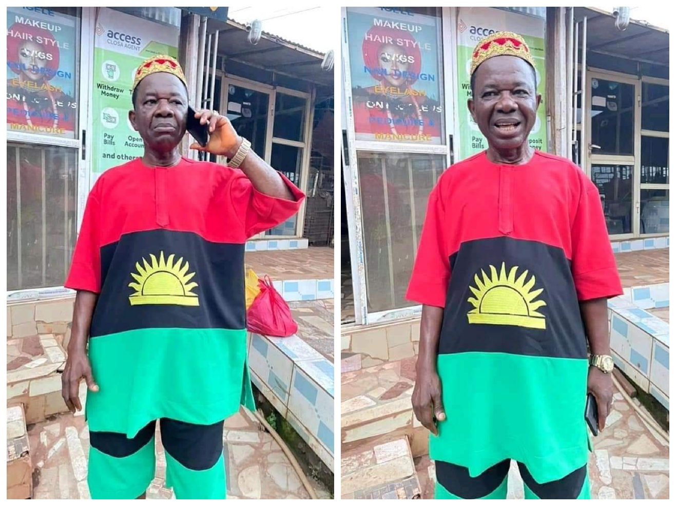 Nollywood actor, Chinwetalu Agu steps out in Biafra outfit says, no amount of force can crush the will of the people