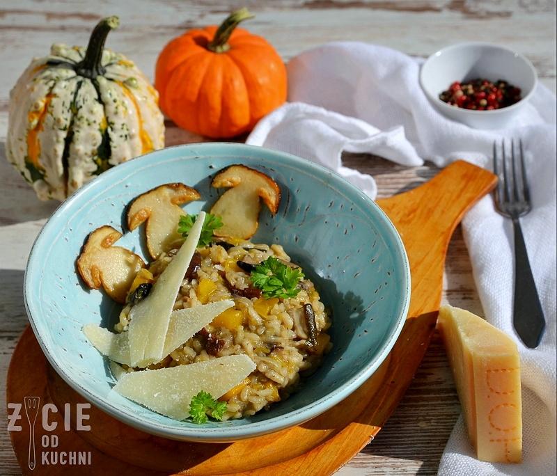 risotto z grzybami, risotto, lesne grzyby, risotto, potrawy z ryzu, potrawy z dynia, dynia, wloska kuchnia, zycie od kuchni