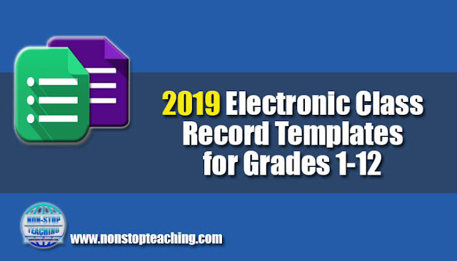 2019 Electronic Class Record/ECR Templates
