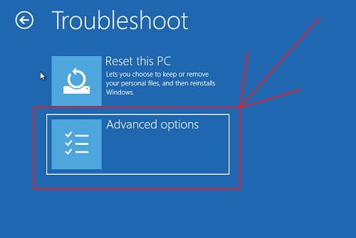 Windows 10 Troubleshoot opitons