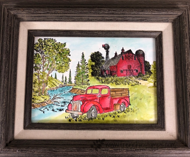 Peaceful Place, Heartland, Country Livin', Watercolor,