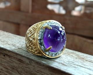 Cincin Batu Kecubung Pengasihan Ratu