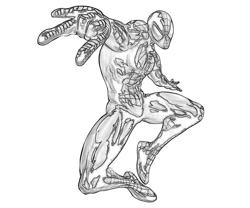 Iron Spider Suit Coloring Pages Bltidm