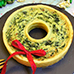 Christmas Wreath Spinach and Cheese Quiche