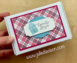 Stampin' Up! Plaid Tidings Notecard Gift Set + VIDEO~ August-December 2020 Mini Catalog ~ www.juliedavison.com #stampinup #simplestamping