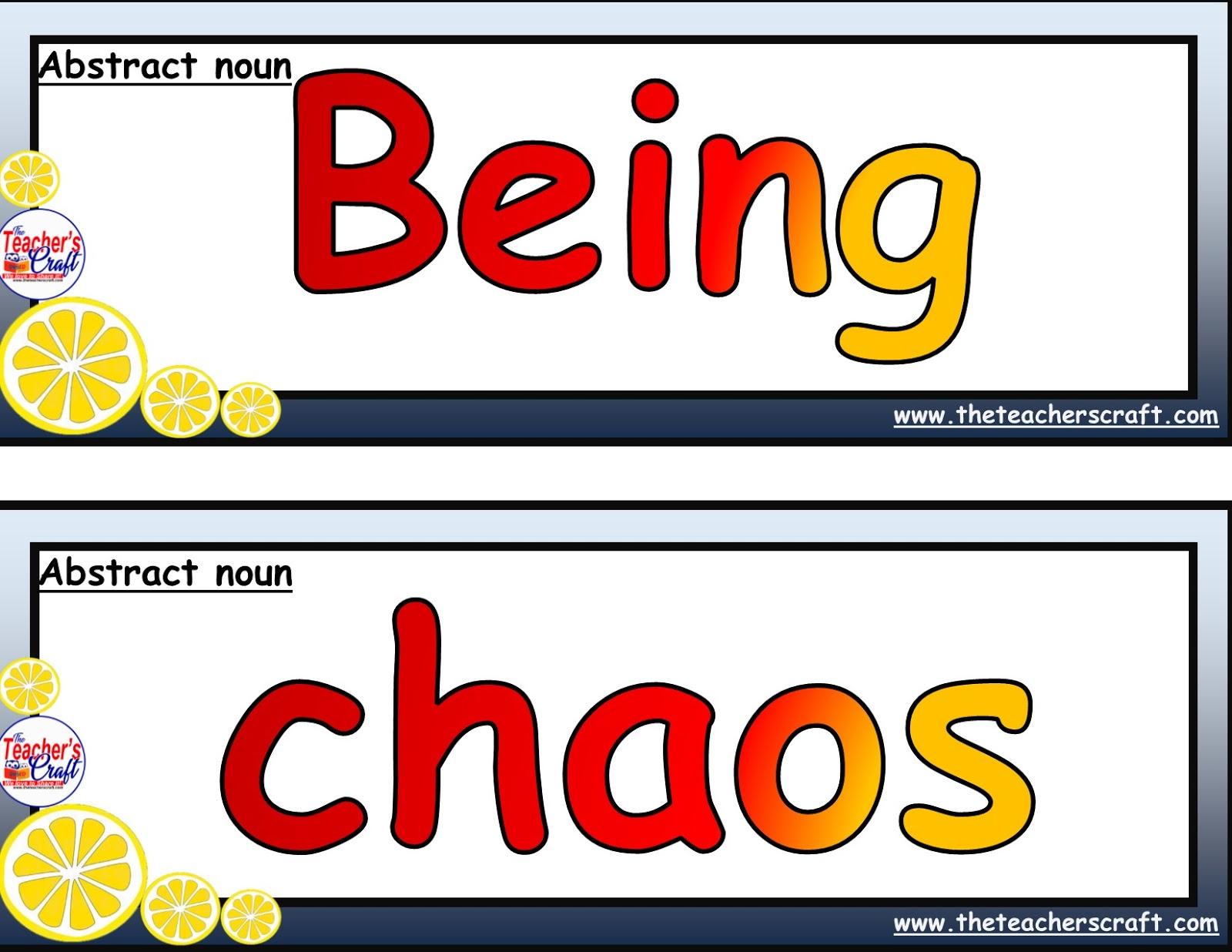 Abstract Nouns 20 Sets