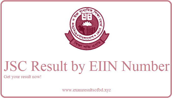 JSC Result 2019 by EIIN Number, Institute Wise JSC Result 2019, Institute Wise JSC Result 2019 by EIIN Number