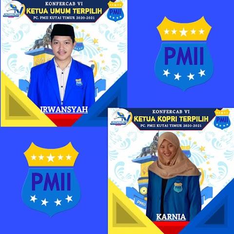 Irwansyah - Karnia Terpilih Jadi Ketua Umum dan Ketua Kopri PMII Kutim