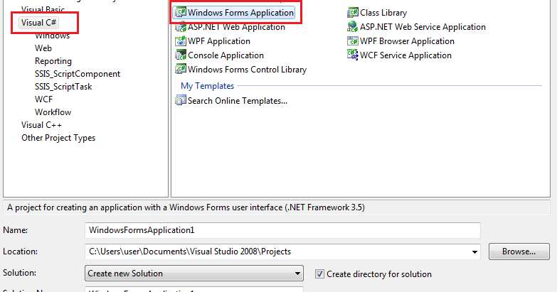 visual studio how to create mdf file