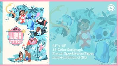 Disney's Lilo & Stitch Screen Print by Daniel Arriaga x Cyclops Print Works
