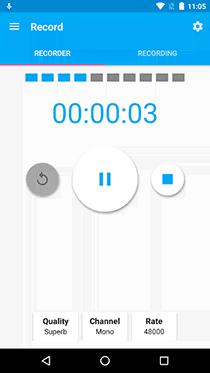 تطبيق Audio Recorder لعمل صدى صوت احترافي - صورة لقطة شاشة (1)