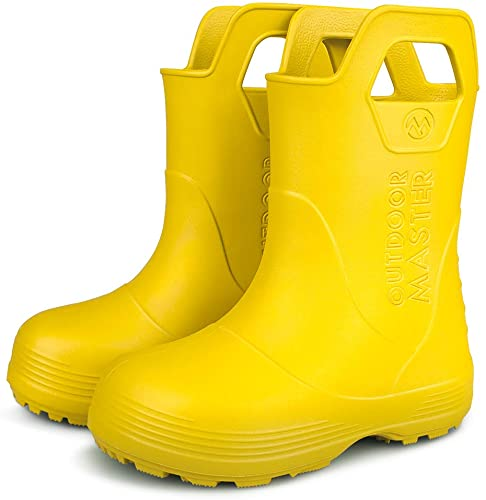 40%OFF Kids Toddler Rain Boots, Lightweight, Easy to Clean for Boys Girls