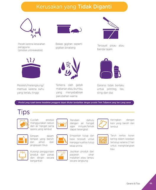 Tips Merawat Produk Twin  Tulipware