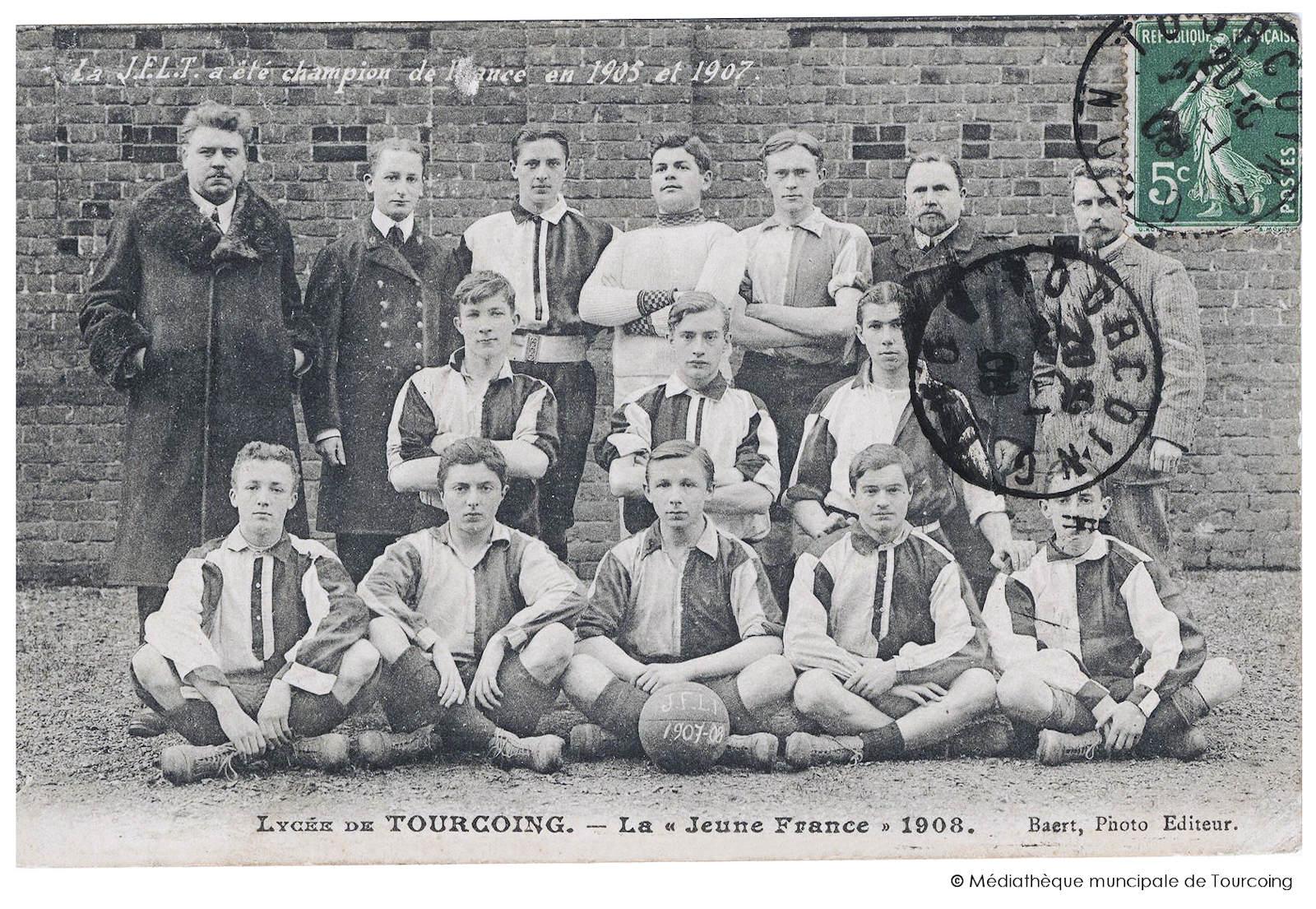 Carte Postale Ancienne - Lycée de Tourcoing JFLT