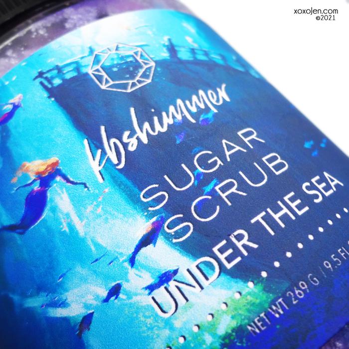 xoxoJen's swatch of KBShimmer Under the Sea scrub