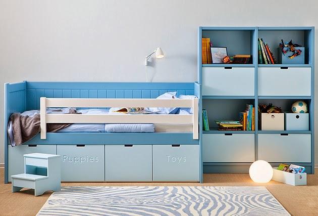 Dormitorio con cama individual