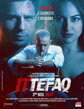 Poster Of Bollywood Movie Ittefaq 2017 300MB Pdvd Full Hindi Movie