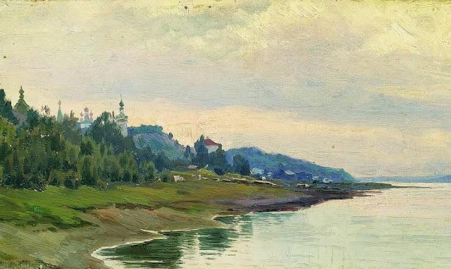 Исаак Ильич Левитан - Плёс. 1889