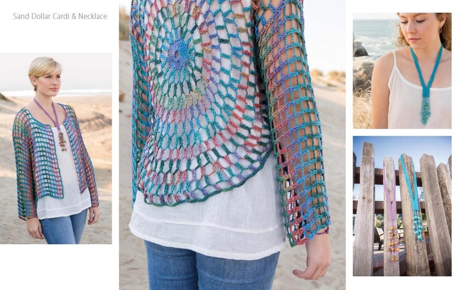 Sand Dollar Card & Necklace Crochet Pattern