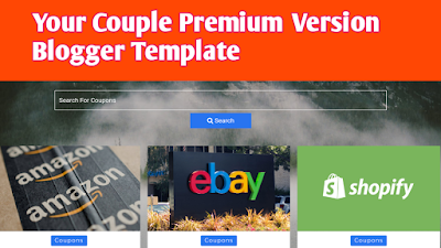Your coupon premium Blogger Template Free Download