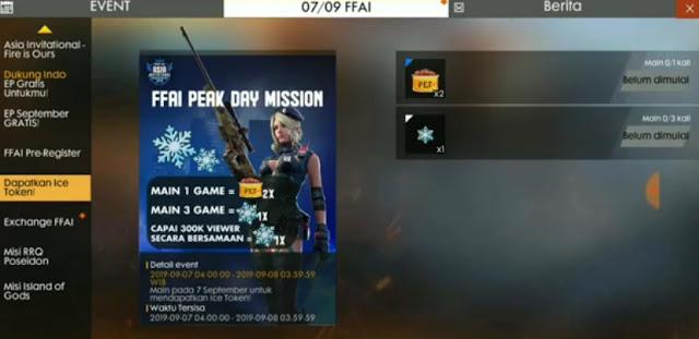 Ketemu lagi bersama kami dalam pembahasan game Free Fire Cara Mendapatkan Token Ice / Snow Badge Token FF Free Fire