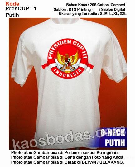 Kaos Presiden  CUP  3 - Kode1 - Putih