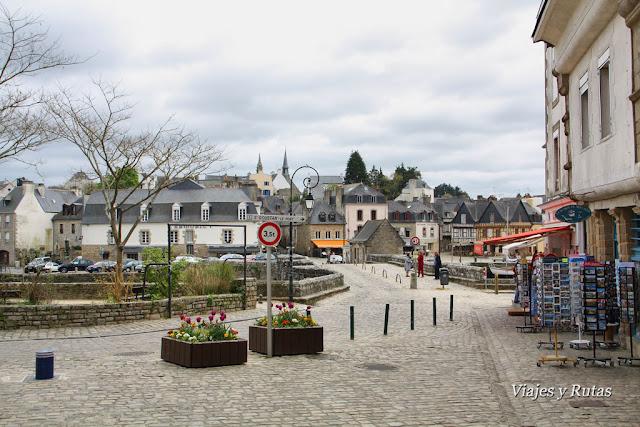 Calles de Auray, Bretaña, Francia
