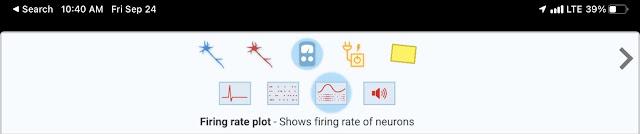 Firing rate plot