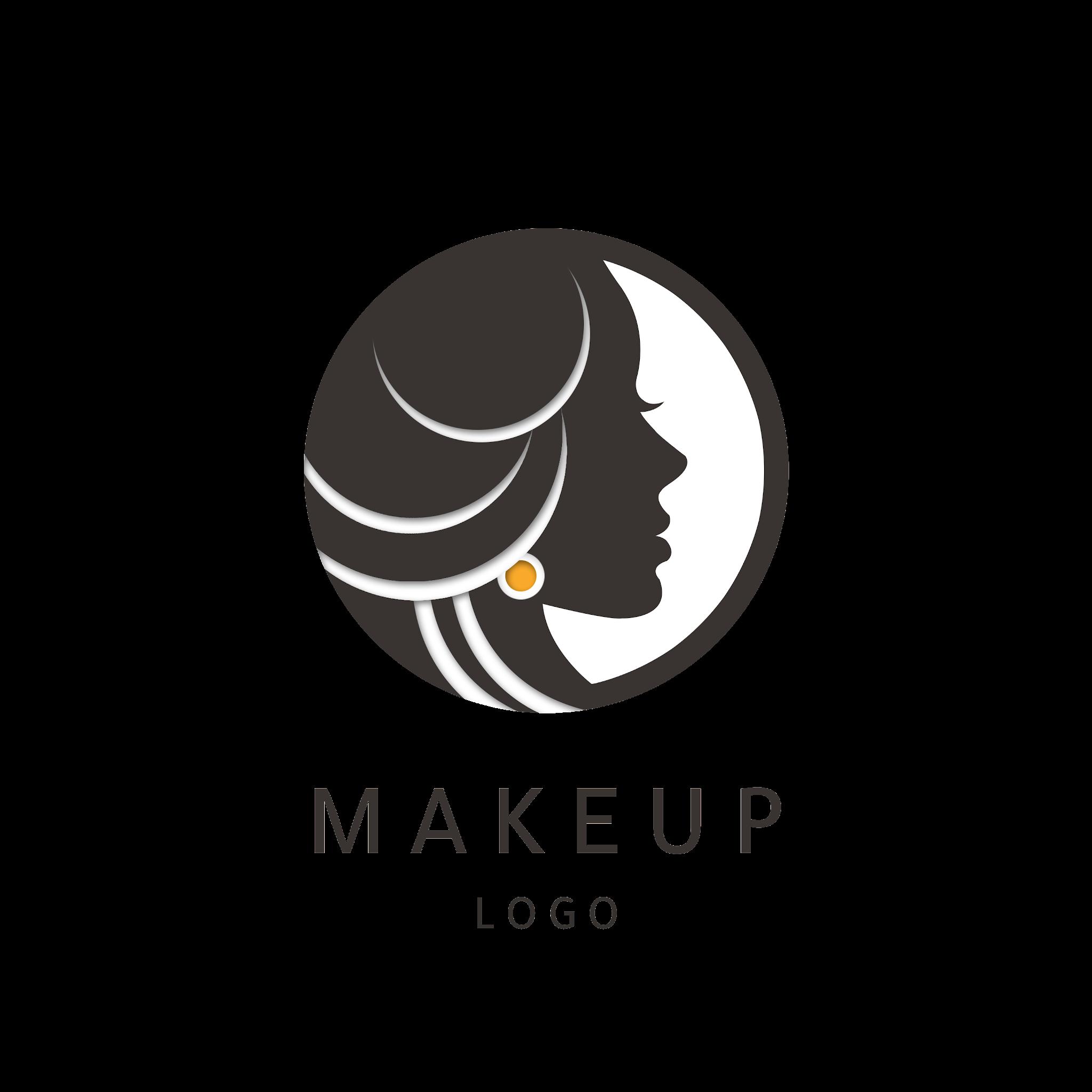 Woman Girl Logo Abstract Circle Shape Design - Logotype Free Vector