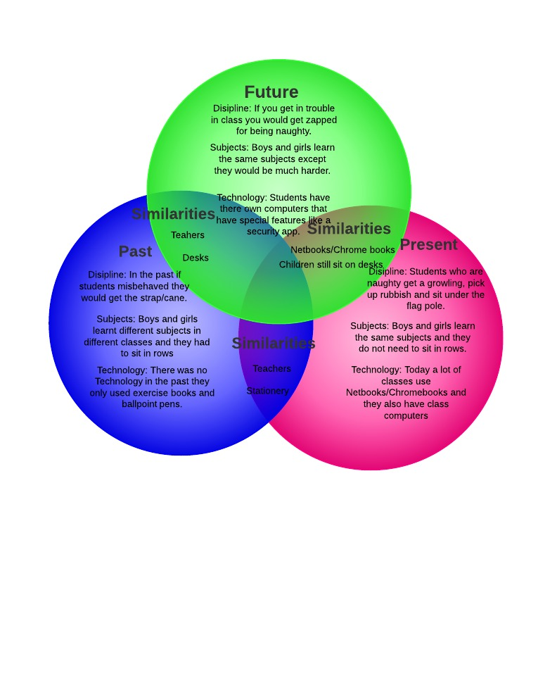 Creative Voice Caitlins Venn Diagram On Past Present And Future