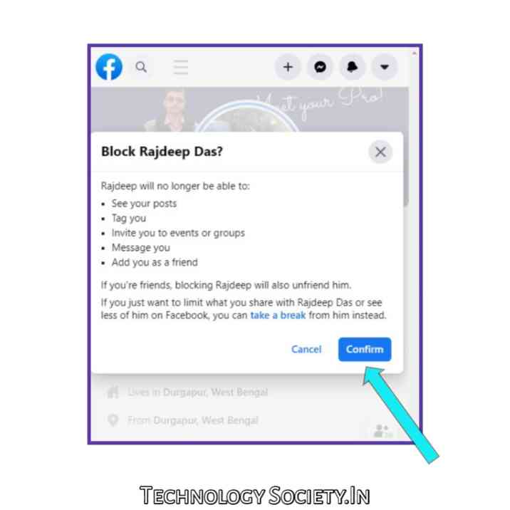 Block Someone on Facebook Messenger In Android