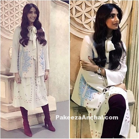Sonam Kapoor in Temperley London Skirt & Jacket