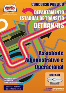 Apostila DETRAN Rio Grande do Sul - Assistente Administrativo e Operacional