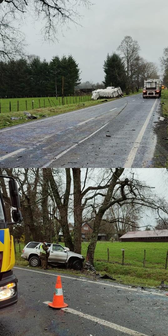Puyehue: Fatal accidente en la Ruta U-51