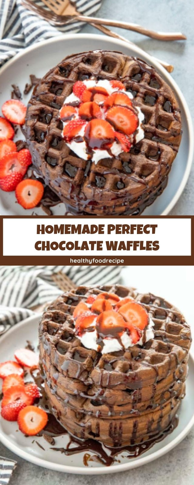 HOMEMADE PERFECT CHOCOLATE WAFFLES
