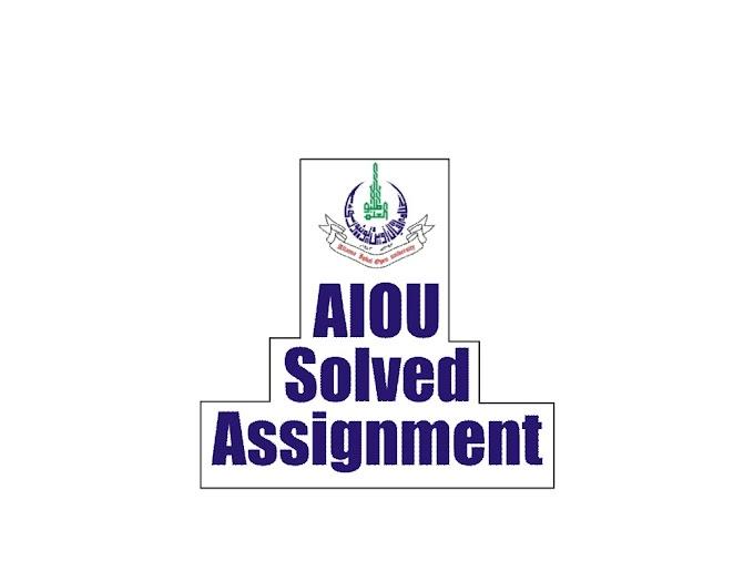 AIOU Solved Assignment 423 Autumn 2019 Assignment No 2